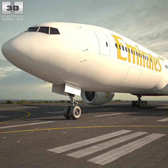 Boeing 777 - 3DOcean Item for Sale