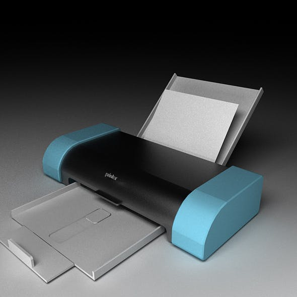 Printer Model with  materials