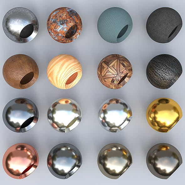 Corona Materials and Textures for Cinema 4D - 3DOcean Item for Sale