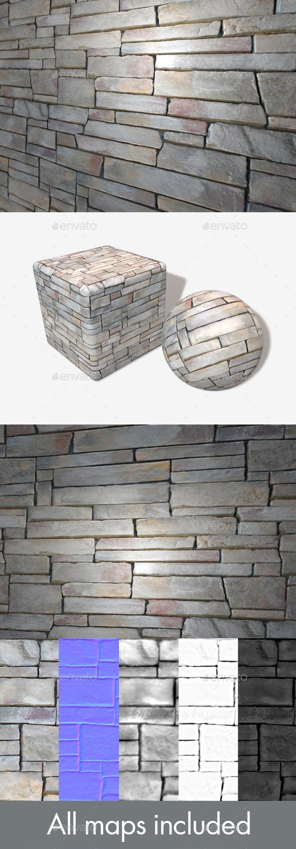 60's Style Rock Wall Seamless - 3DOcean Item for Sale