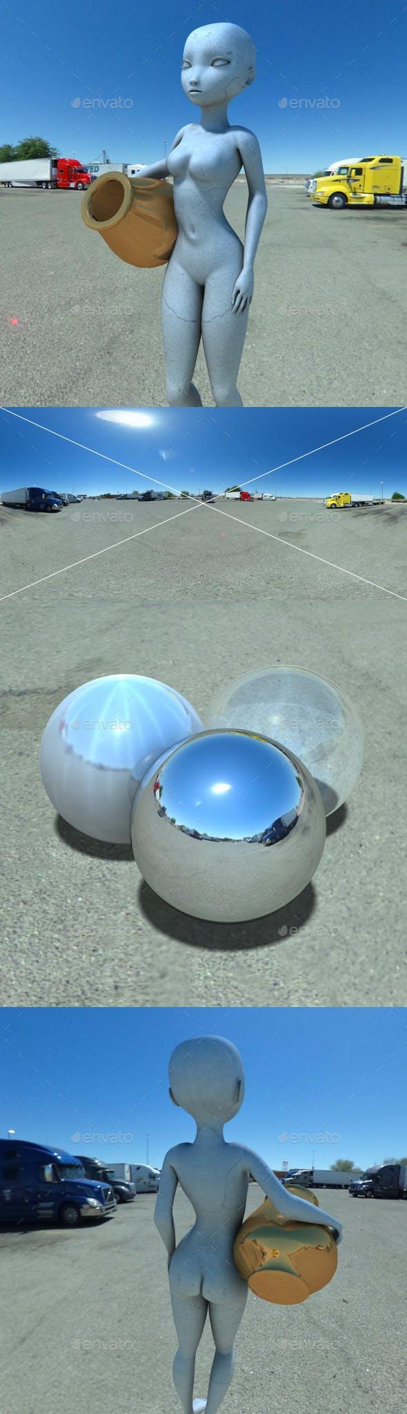 Truck Stop Blue Sky HDRI - 3DOcean Item for Sale