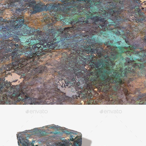 Painted Desert Green Rock Seamless Texture