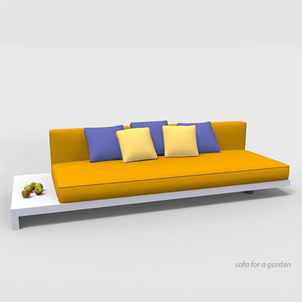 Sofa for a garden.