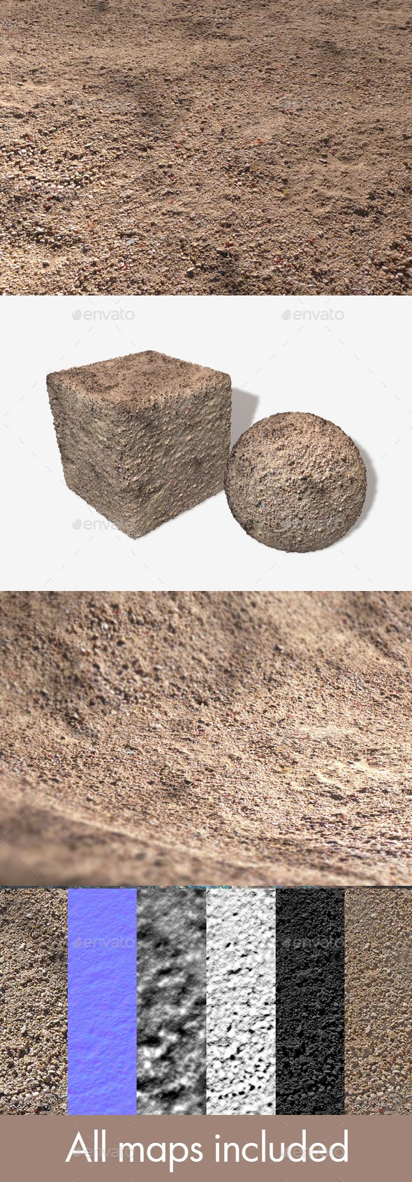 The Painted Desert Ground Seamless Texture - 3DOcean Item for Sale
