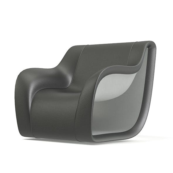 Grey and White Modern Armchair 3D Model - 3DOcean Item for Sale