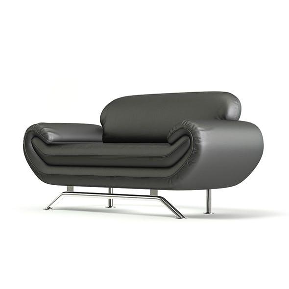 Black Leather Modern Sofa 3D Model - 3DOcean Item for Sale