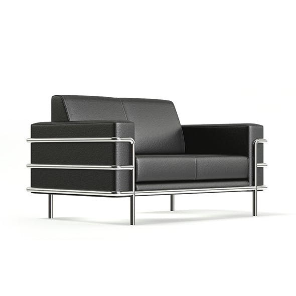 Black Leather Sofa 3D Model - 3DOcean Item for Sale