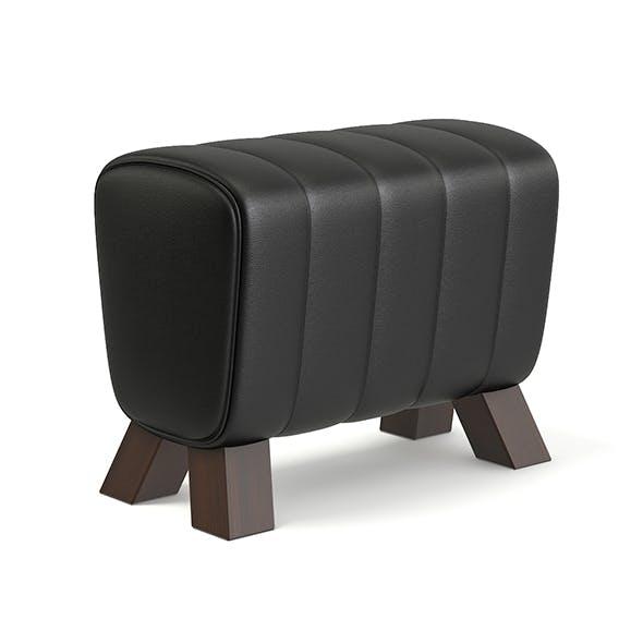 Black Leather Stool 3D Model - 3DOcean Item for Sale