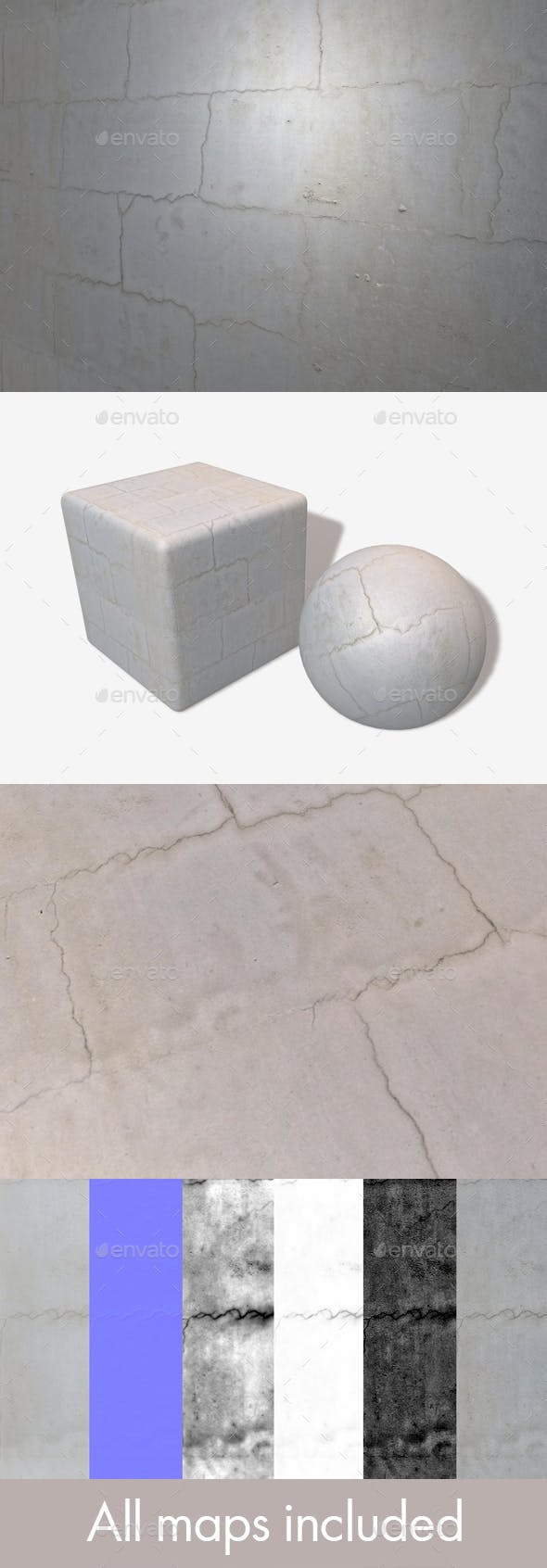 Cracked Plaster Wall Seamless Texture - 3DOcean Item for Sale
