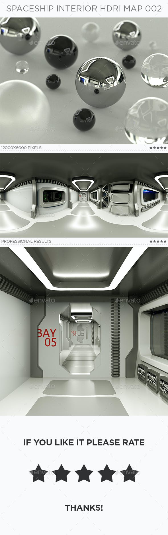 Spaceship Interior HDRi Map 002 - 3DOcean Item for Sale