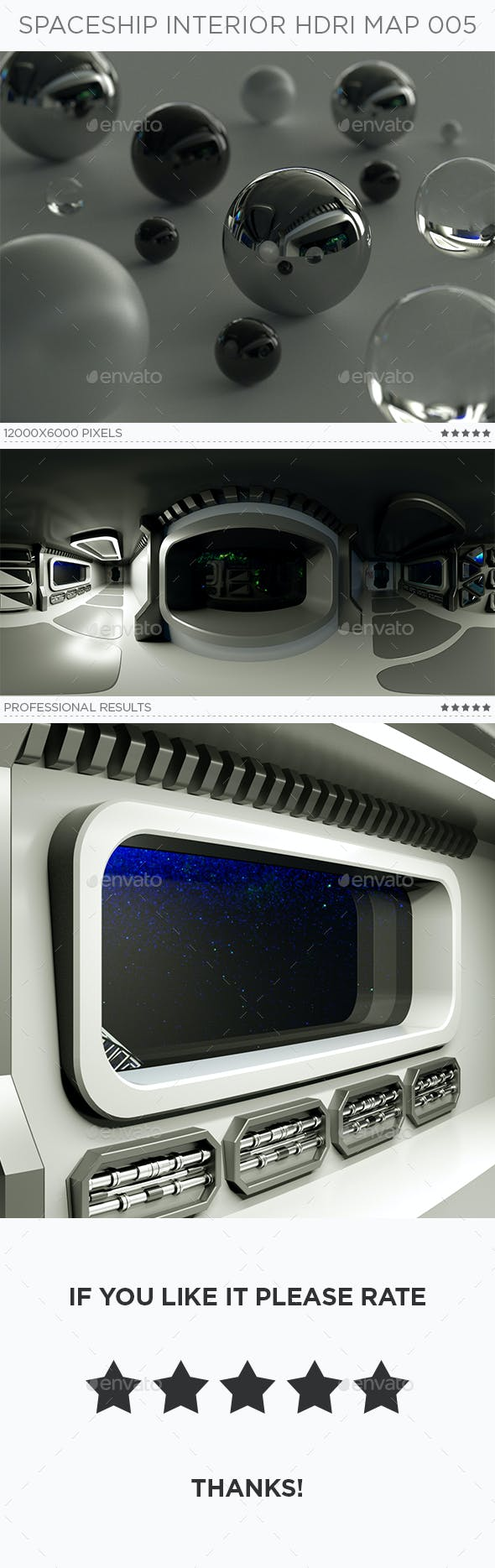 Spaceship Interior HDRi Map 005 - 3DOcean Item for Sale