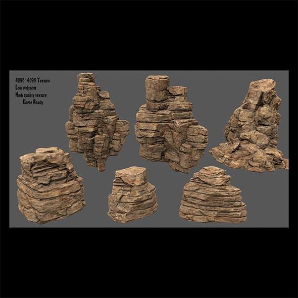 desert rock - 3DOcean Item for Sale