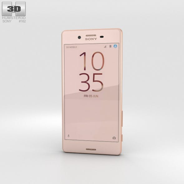 Sony Xperia X Performance Rose Gold - 3DOcean Item for Sale