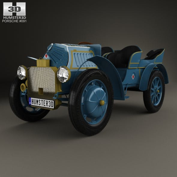 Porsche-Lohner Mixte Hybrid 1900 - 3DOcean Item for Sale