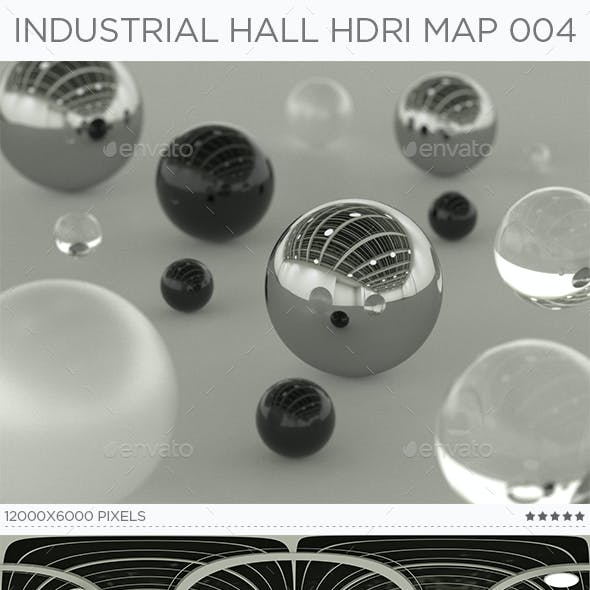 Industrial Hall HDRi Map 004
