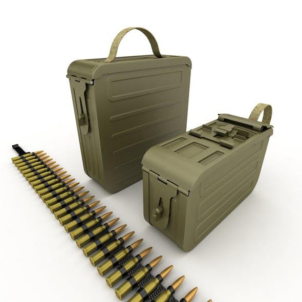 Ammunition boxes for machine gun - 3DOcean Item for Sale