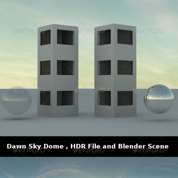 Dawn Sky Dome ,HDR File and Blender Scene