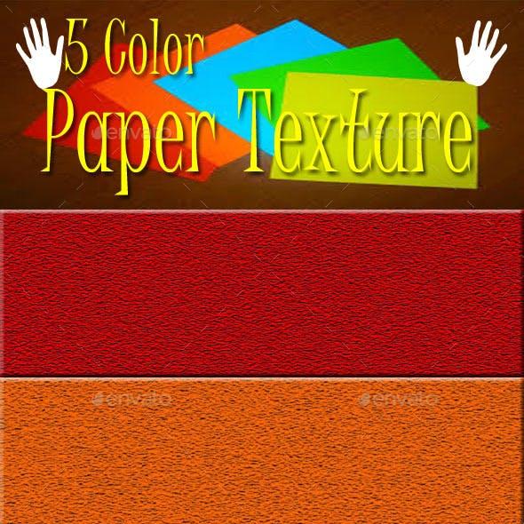 5 Color Paper Textures