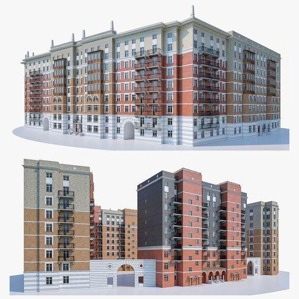 Apartment Buildings 02 - 3DOcean Item for Sale