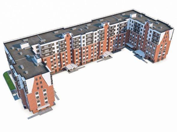 Apartment Buildings 03 - 3DOcean Item for Sale