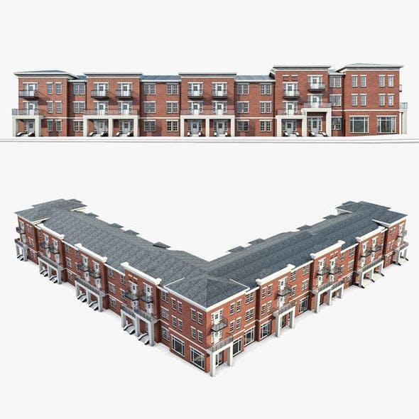 Apartment Complex 01 - 3DOcean Item for Sale