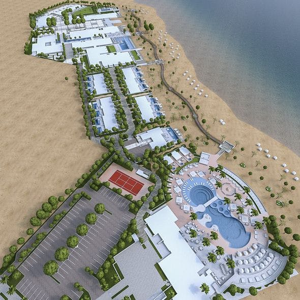Beach Residence Resort - 3DOcean Item for Sale