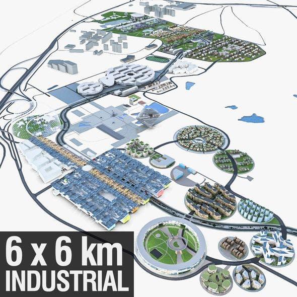 Business Park - 3DOcean Item for Sale