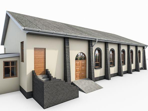 Church Building - 3DOcean Item for Sale