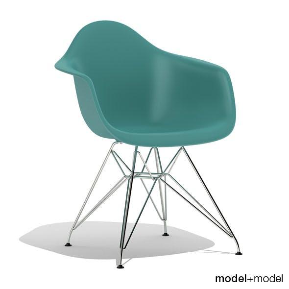 Eames Plastic Armchair DAR - 3DOcean Item for Sale
