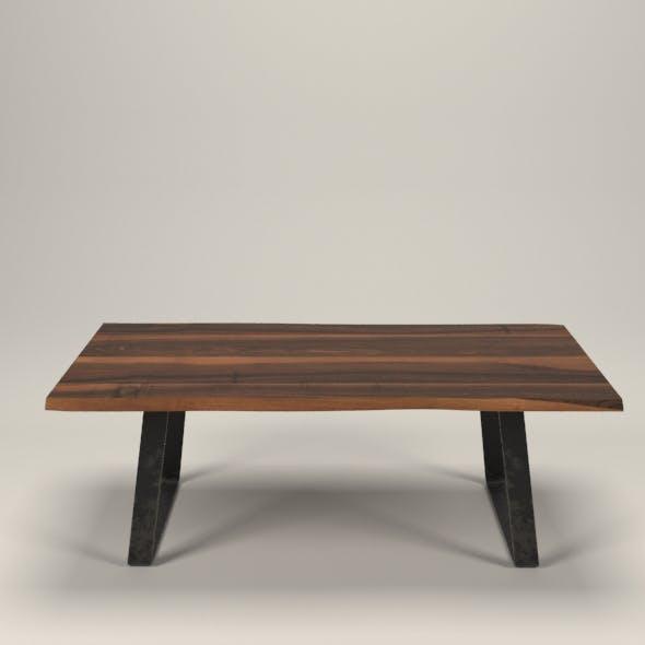 Live edge wallnut table - 3DOcean Item for Sale