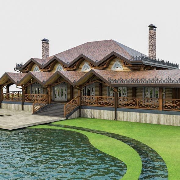 Chalet House - 3DOcean Item for Sale
