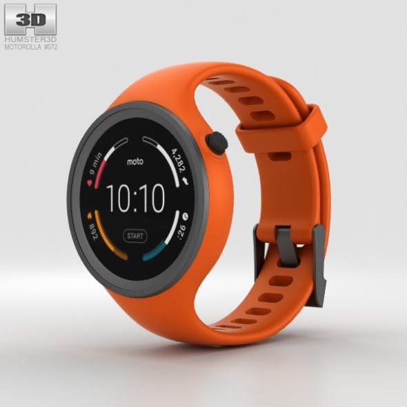 Motorola Moto 360 Sport Flame Orange - 3DOcean Item for Sale