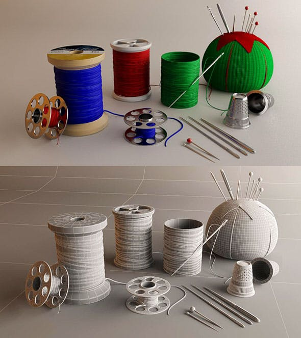 Sewing Kit 3D Package - 3DOcean Item for Sale