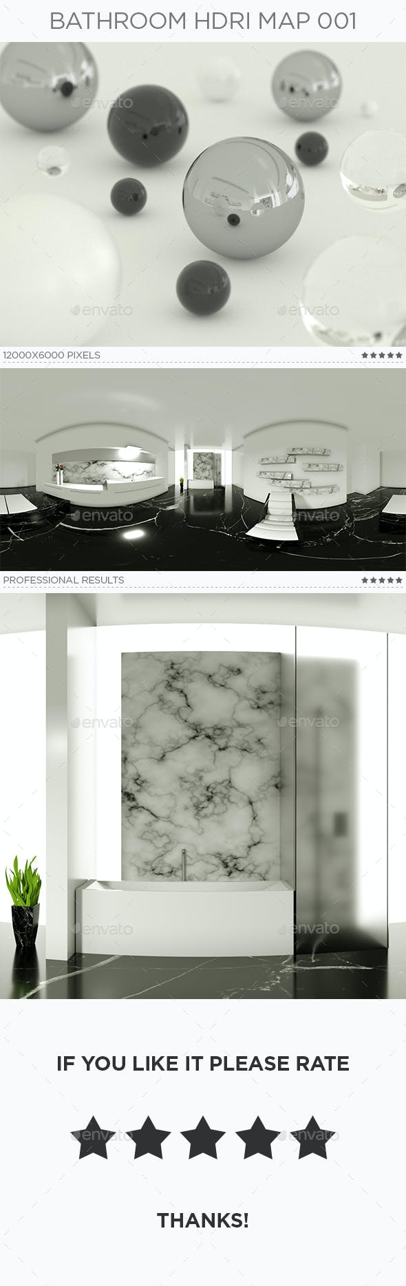 Bathroom HDRi Map 001 - 3DOcean Item for Sale