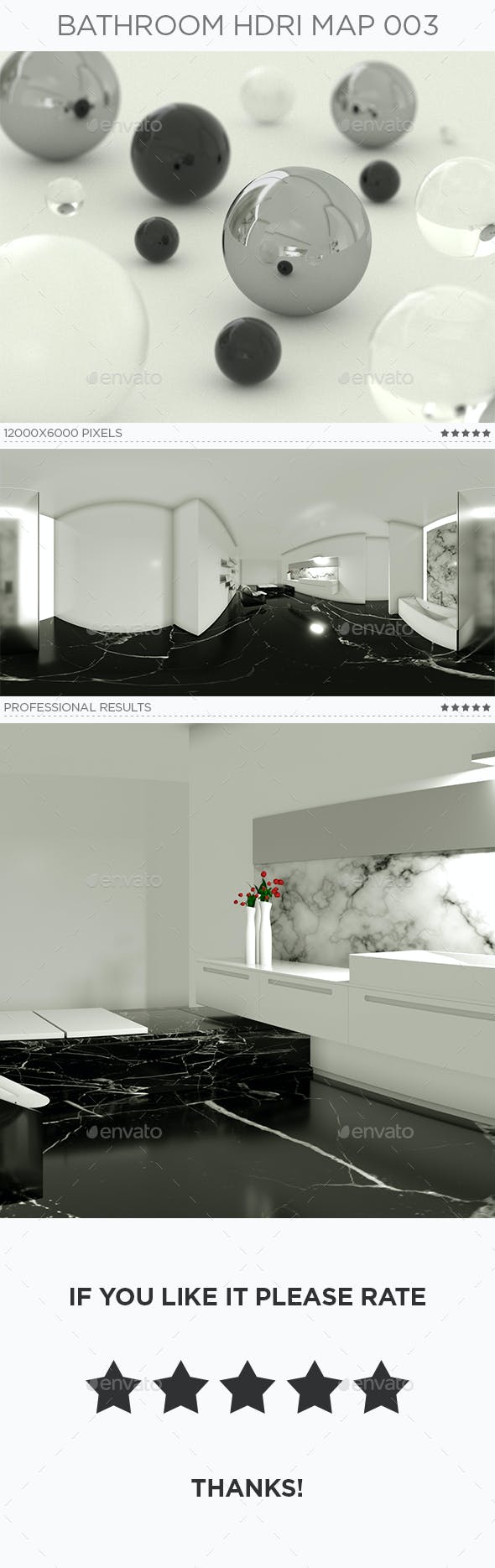 Bathroom HDRi Map 003 - 3DOcean Item for Sale