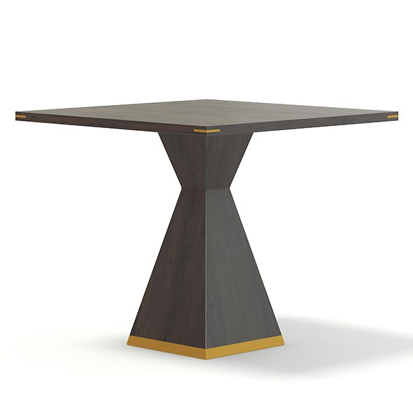 Square Wooden Table 3D Model - 3DOcean Item for Sale