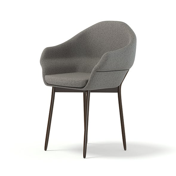 Grey Fabric Chair 3D Model