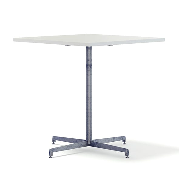 Square Metal Table 3D Model