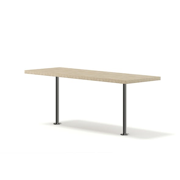 Wood and Metal Table 3D Model - 3DOcean Item for Sale
