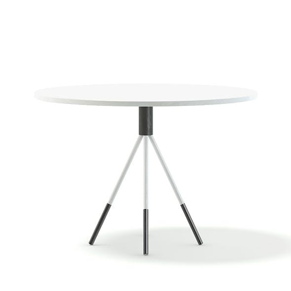 White Round Table 3D Model