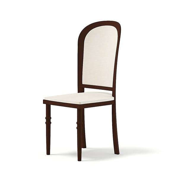 Classic Wooden Chair 3D Model