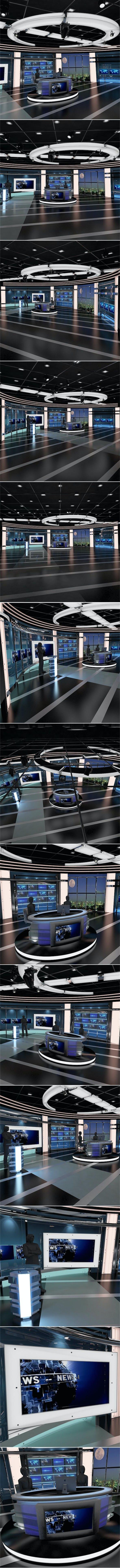 Virtual TV Studio News Set 27 - 3DOcean Item for Sale