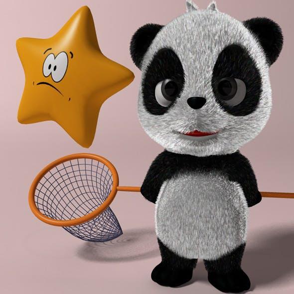 Cartoon Panda RIGGED - 3DOcean Item for Sale