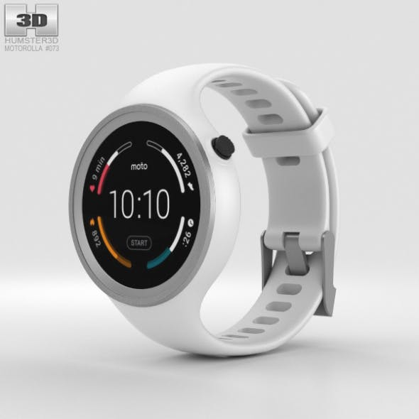 Motorola Moto 360 Sport White - 3DOcean Item for Sale
