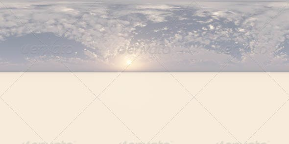 Visible Sun Low On the Horizon CG HDRI - 3DOcean Item for Sale