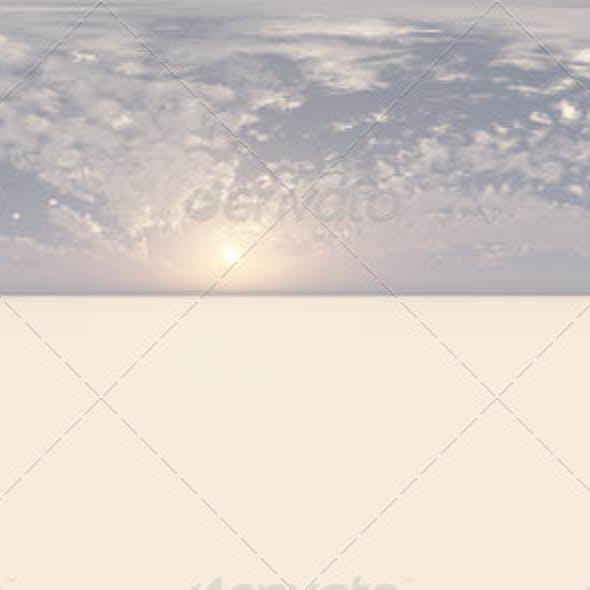 Visible Sun Low On the Horizon CG HDRI