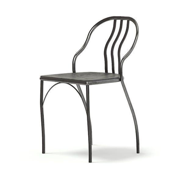 Black Metal Chair 3D Model - 3DOcean Item for Sale