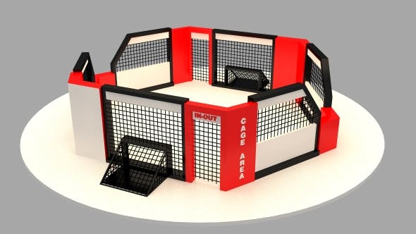 street soccer cage arena - 3DOcean Item for Sale