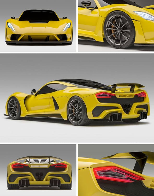Yellow hennessy venom gt - 3DOcean Item for Sale