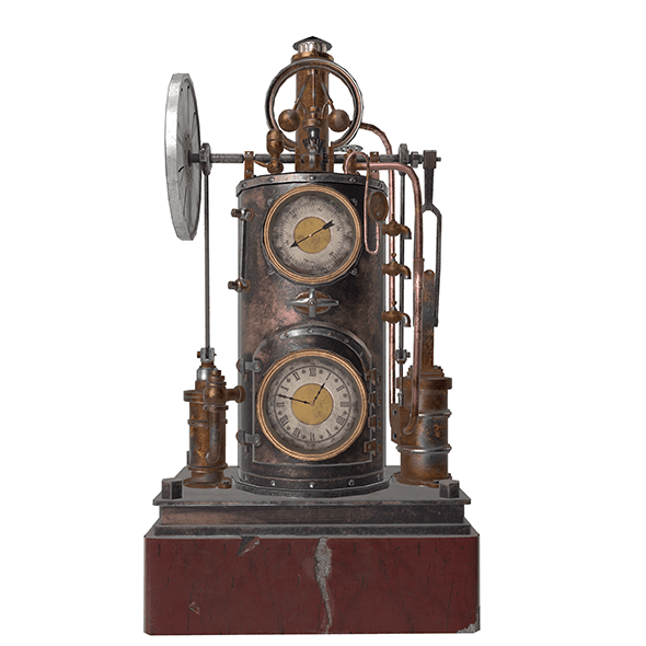 steampunk clock - 3DOcean Item for Sale